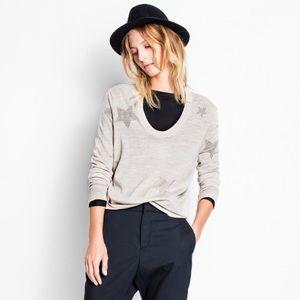 Zadig & Voltaire Rina Star Sweater Merino Wool XS